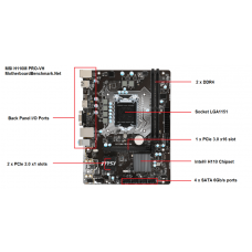 Mother 1151 msi h110m pro-vh